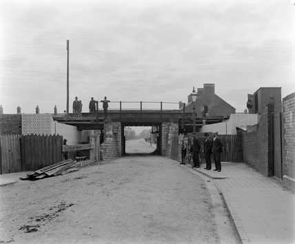 Newport, Wharf Road Railway Bridge.