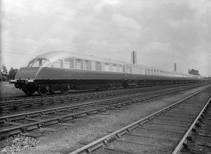 Coronation Train at Retford. England, 1937.