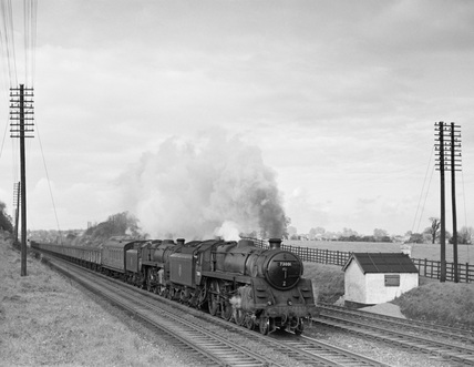 Locomotives No. 73000 and No. 73001. England, 1952.
