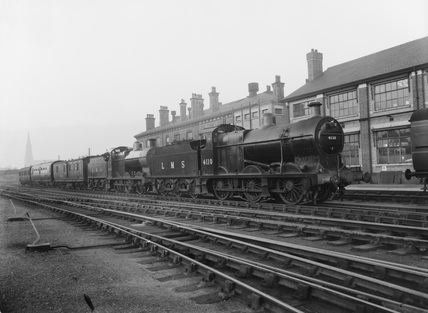 Mobile Test Unit no.2 with two 0-6-0 Goods Engines. Derby, England.