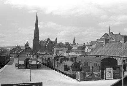 Wrexham Central Station, 1950.