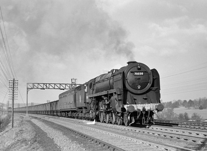 7MT 'William Wordsworth', Locomotive No. 70030,  near Chiltern. England, 1953.