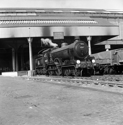 Locomotive No. 62567 at Bishopsgate Goods Station on RCTS East. England, 1953.