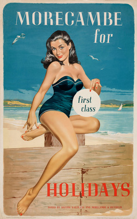 'Morecambe for First Class Holidays', BR poster, 1960.