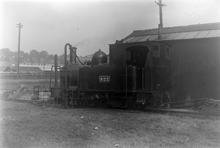 Welshpool and Llanfair Railway, locomotive No.822. Wales, Uk.