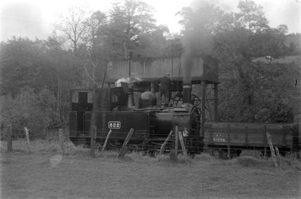 Welshpool and Llanfair Railway, locomotive No.822. Wales, Uk.
