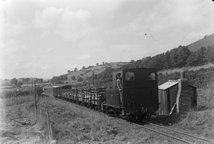 Welshpool and Llanfair Railway, locomotive No. 822. Sylfaen, Powys, Wales.