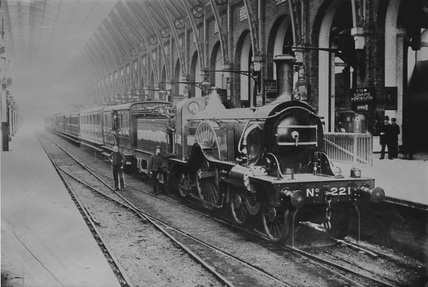 Locomotive no. 22. GNR 4-2-2 class A2 locomotive no. 221. London, England.