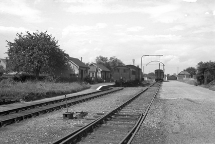 Tiptree railway station. Essex, England, 1950.