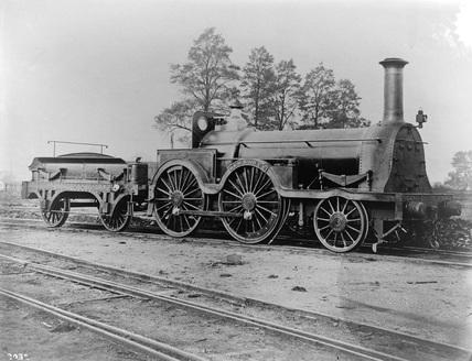 GWR 2-4-0 Hawthorn class locomotive 'Dewrance'.