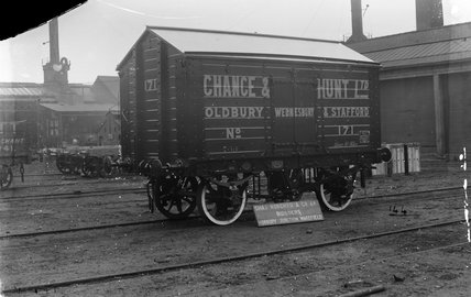 10 ton salt van numbered 171, Chance & Hunt Ld. England, 1909.