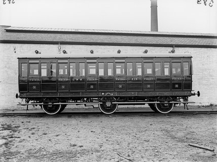 Excursion third class coach no. 818, GNR. Doncaster, England.