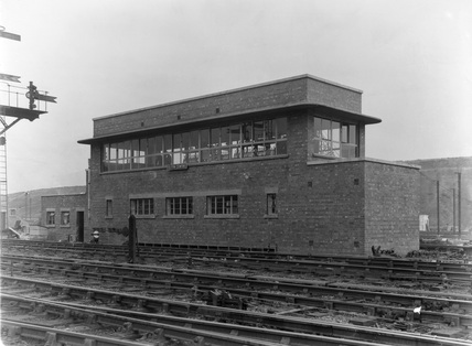 Toton Sidings Centre Signal Box, Exterior. 1950.