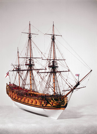 Model of a 50-gun warship, 1730s (Science Museum / Science & Society)