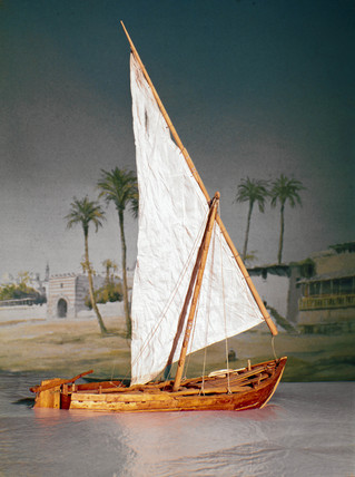 Egyptian cargo and ferry boat used on the Upper Nile, early 20th century.