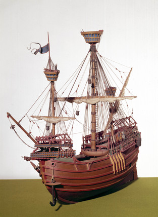 Flemish carrack, c 1490.