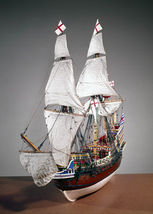 Elizabethan galleon 'Elizabeth Jonas', c 1600.