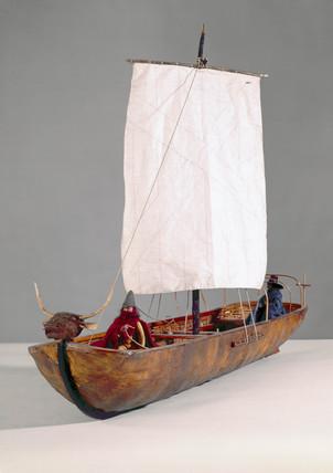 Wicker framed boat from Ireland, c 1685.