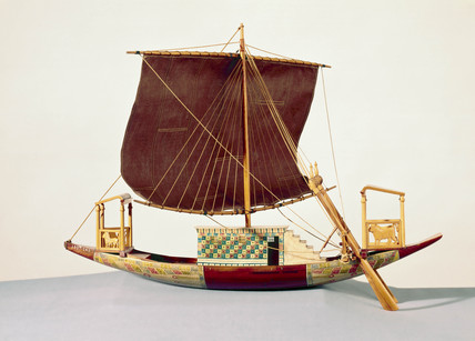 Egyptian procesional boat, c 1300 BC.