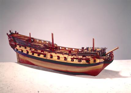 60-gun ship, c 1719-1745.