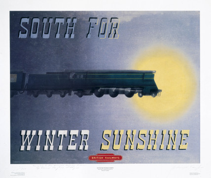 'South for Winter Sunshine', BR reproduction poster, 1995.