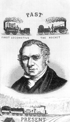 George Stephenson, railway engineer, mid 19th century.