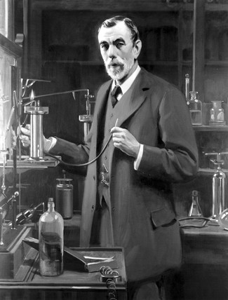 Sir William Ramsay, Scottish chemist, 1913.