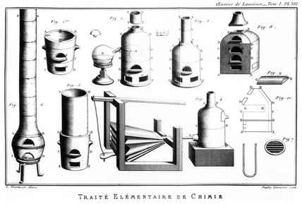 'Old Furnaces', 1789. From 'oeuvres de