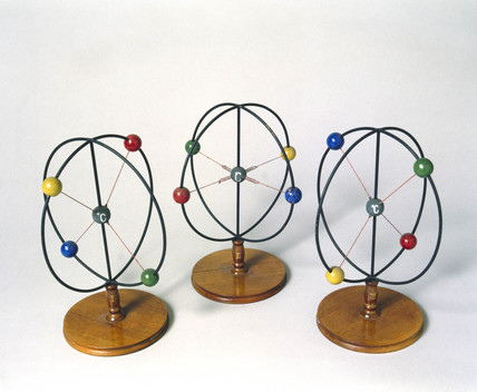 Werner's models illustrating racemization, early 20th century.