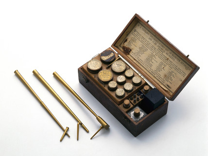 Blowpipe kit and three blowpipes, 19th century.