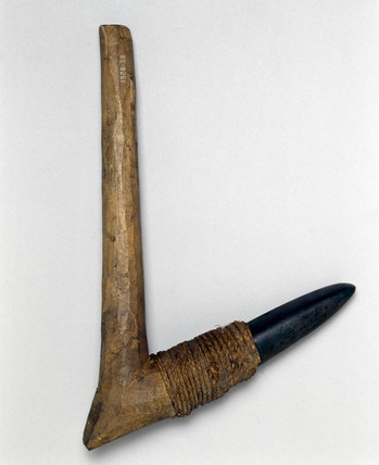Adze with stone blade from Fiji.