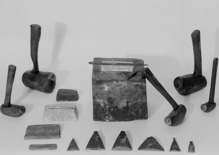 Collection of file-cutters tools, 1880-1920.