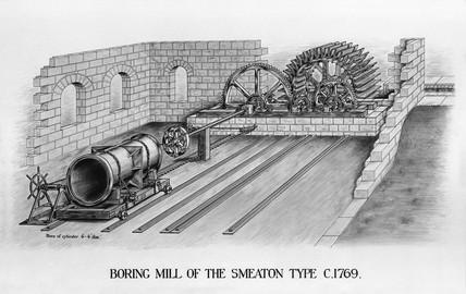 Smeaton's boring mill, 1770.