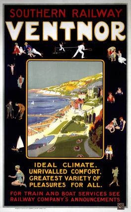 'Ventnor', SR poster, c 1920s.