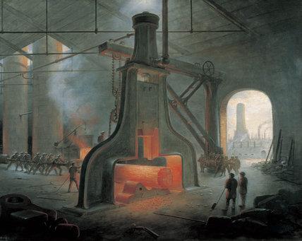 'A Steam Hammer at Work', 1871.