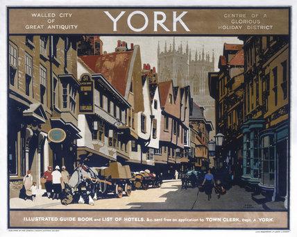 'York', LNER poster, c 1920s.