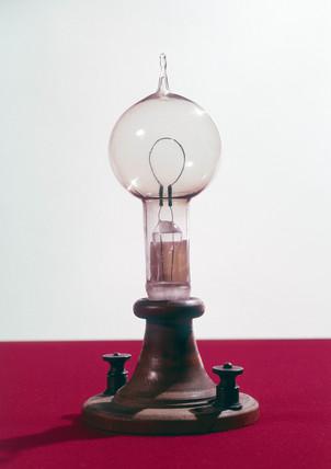Edison's filament lamp, American, 1879.