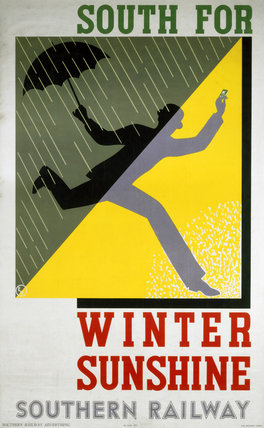 South for winter sunshine poster, 1932 (NRM / Pictorial Collection / Science & Society)