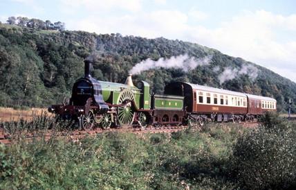 'Stirling Single' 4-2-2 steam locomotive No