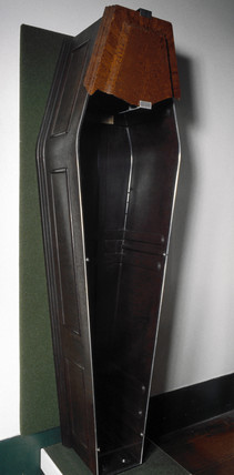 Bakelite coffin, 1938.