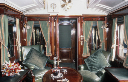 Saloon of King Edward VII's Royal Train, 1903.