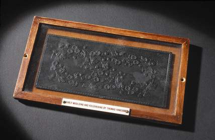 Vulcanite plaque, c 1840.