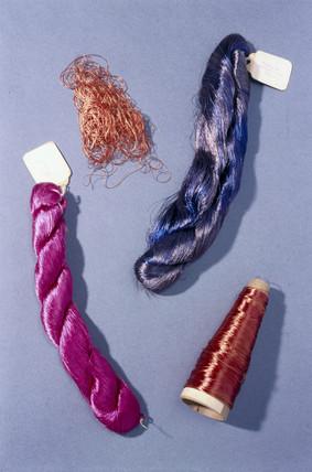 Viscose rayon (artificial silk), c 1903.