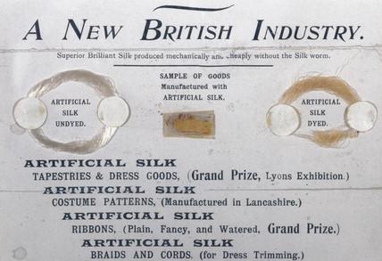 Framed samples of Chardonnet artificial silk, 1896.