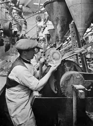 Glas cutting, c 1920s.