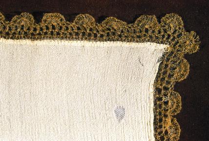 Early specimen of artificial silk, 1883.