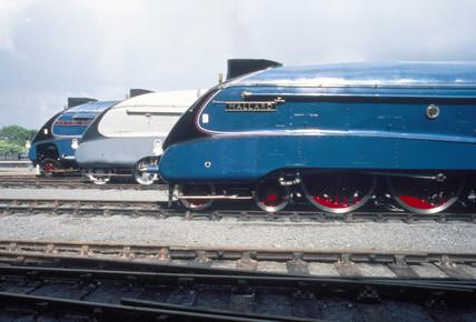 Line-up of LNER A4 Class Pacifics: no 4498