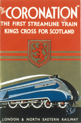 Brochure promoting 'The Coronation' LNER train, 1937-1939.
