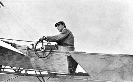 Hubert Latham, French pioneer pilot, c 1909.