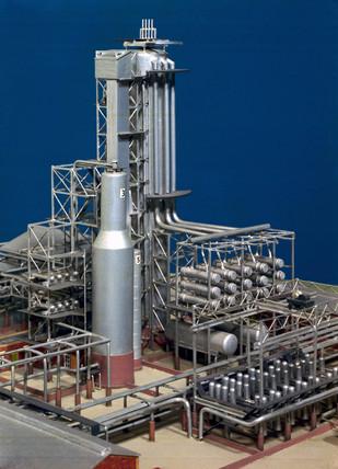 Petroleum refinery plant, c 1950s.
